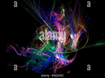 Flame fractal digitally generated nebula - Stock Photo