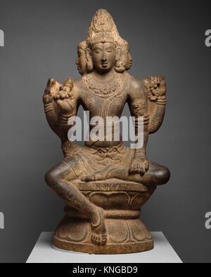 Shiva as Mahesha. Period: Chola period (880-1279); Date: 10th century; Culture: India (Tamil Nadu); Medium: Granite; - Stock Photo