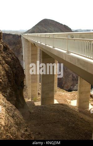 Mike O'Callaghan Pat Tillman Memorial Bridge between Arizona and Nevada, USA. - Stock Photo