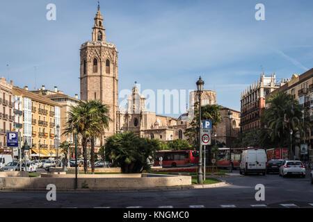 Plaza de la Reina, Valencia - Stock Photo