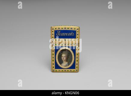 Souvenir. Date: 1776-77; Culture: French, Paris; Medium: Gold, diamonds, pearls, enamel, ivory; Dimensions: 3 3/8 - Stock Photo