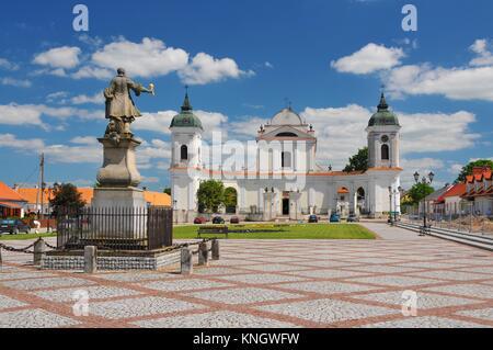 Tykocin - small town in Podlaskie Voivodeship, Poland. Church of the Holy Trinity. - Stock Photo
