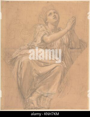 Allegorical Figure of the City of Piacenza, for a Pendentive in the Chapel of Saint-Roch, Church of Saint-Sulpice, - Stock Photo