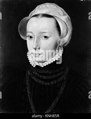 Portrait of a Young Woman. Artist: Pieter Jansz. Pourbus (Netherlandish, Gouda? 1524-1584 Bruges); Artist: ? Pieter - Stock Photo