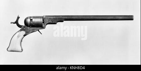 Colt Paterson Percussion Revolver, No. 5, Holster Model, serial no. 528. Manufacturer: Samuel Colt (American, Hartford, - Stock Photo