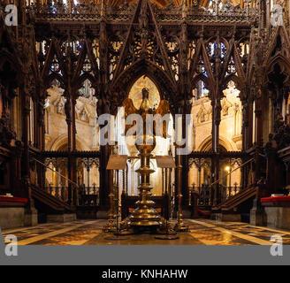 INTERIOR, KINGS COLLEGE CHAPEL, CAMBRIDGE - Stock Photo