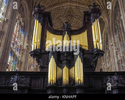 INTERIOR SHOWING ROOD SCREEN , KINGS COLLEGE CHAPEL, CAMBRIDGE - Stock Photo