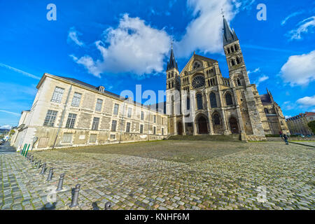 Saint-Remi Basilica in Reims, Champagne, France. - Stock Photo