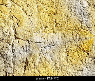 Cracked concrete in two tone color - Stock Photo