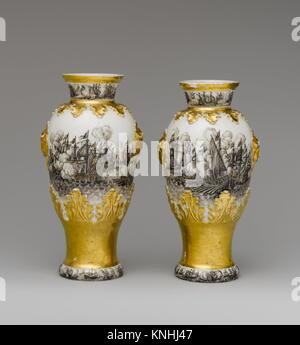 Vase (one of a pair). Factory: Meissen Manufactory (German, 1710-present); Factory director: Böttger Period (1713 - Stock Photo