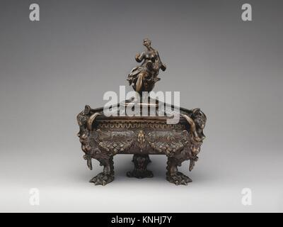 Allegory of History. Date: late 16th-early 17th century; Culture: Northern Italian; Medium: Bronze; Dimensions: - Stock Photo