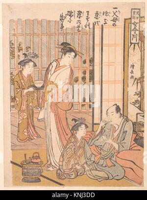 Forgetting Filial Piety. Artist: Torii Kiyonaga (Japanese, 1752-1815); Period: Edo period (1615-1868); Date: ca. - Stock Photo