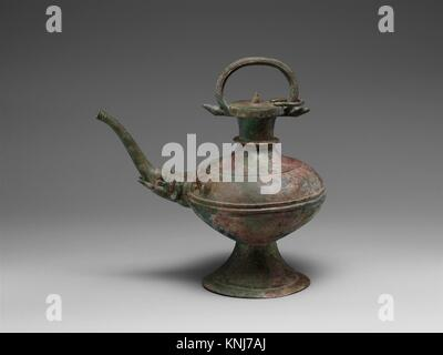 Ewer with Elephant-Headed Spout. Period: period of Chinese Han occupation; Date: late 2nd-3rd century; Culture: - Stock Photo