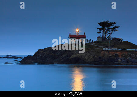 Battery Point Lighthouse, Crescent City in northern California, United States - Stock Photo