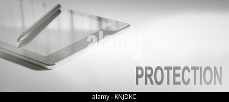 PROTECTION Business Concept Digital Technology. Graphic Concept. - Stock Photo