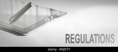 REGULATIONS Business Concept Digital Technology. Graphic Concept. - Stock Photo