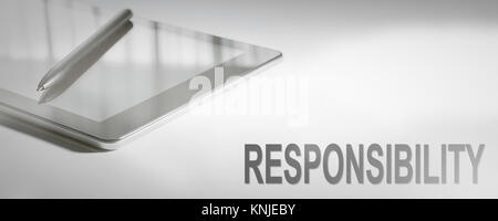 RESPONSIBILITY Business Concept Digital Technology. Graphic Concept. - Stock Photo