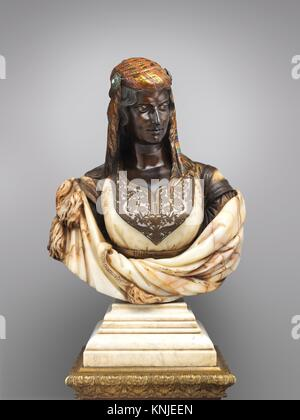 The Jewish Woman of Algiers. Artist: Charles-Henri-Joseph Cordier (French, 1827-1905); Maker: Pedestal attributed - Stock Photo