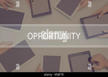 OPPORTUNITY CONCEPT Business Concept. - Stock Photo