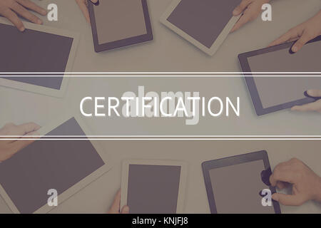 CERTIFICATION CONCEPT Business Concept. - Stock Photo