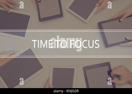 TIME TO FOCUS CONCEPT Business Concept. - Stock Photo