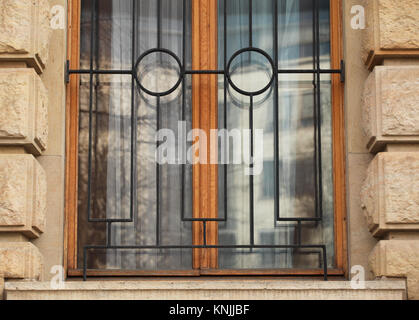 Berlin, Germany. 31st Mar, 2017. A window in the shape of a face, photographed in Berlin, Germany, 31 March 2017. - Stock Photo