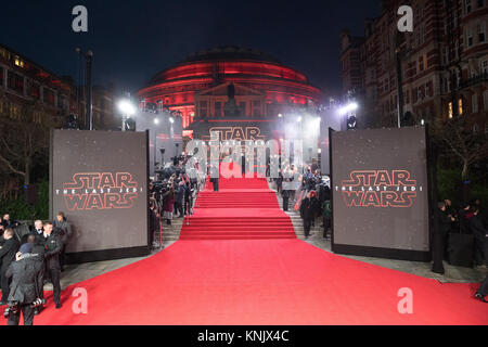 Royal Albert Hall, London, UK. 12th Dec, 2017. The European Premiere of Star Wars - The Last Jedi . Credit: Chris - Stock Photo