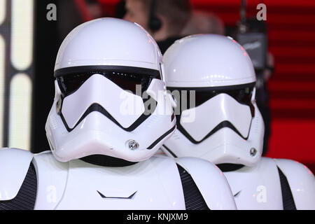 London, UK. 12th Dec, 2017. Stormtroopers, Star Wars: The Last Jedi - European Premiere, Royal Albert Hall, London, - Stock Photo