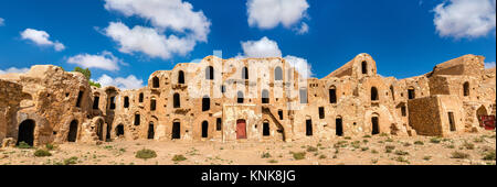 Ksar Ouled Abdelwahed at Ksour Jlidet village - Tataouine Governorate, South Tunisia - Stock Photo