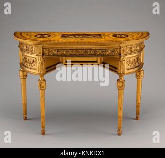 Side table. Designer: Probably after a design by John Yenn (British, London (?) 1750-1821 London); Date: ca. 1780; - Stock Photo