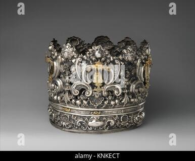 Torah crown (keter). Silversmith: Andrea Zambelli L´Honnesta (Italian, active 1732-1772); Date: ca. 1740-50; Culture: - Stock Photo
