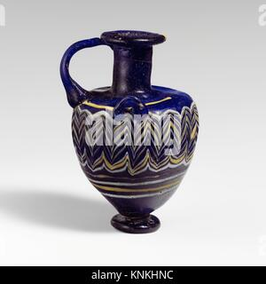 Glass hydriske (perfume bottle). Period: Hellenistic; Date: 3rd century B.C; Culture: Greek, Eastern Mediterranean; - Stock Photo