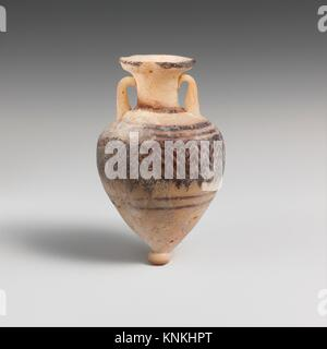 Glass amphoriskos (perfume bottle). Period: Classical; Date: late 6th-5th century B.C; Culture: Greek, Eastern Mediterranean; - Stock Photo