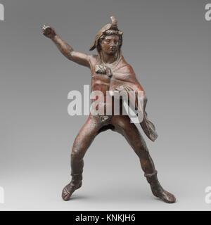 Bronze statuette of a rider wearing an elephant skin. Period: Hellenistic; Date: 3rd century B.C; Culture: Greek; - Stock Photo
