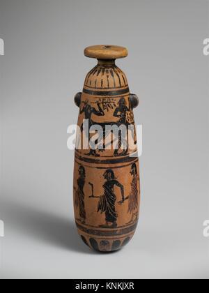 Terracotta Alabastron Perfume Vase Period Archaic Date 6th