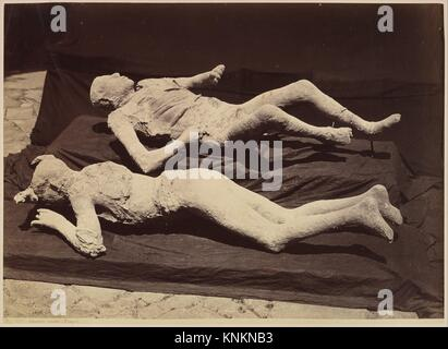 [Plaster Casts of Bodies, Pompeii]. Artist: Giorgio Sommer (Italian, born Germany, 1834-1914); Date: ca. 1875; Medium: - Stock Photo