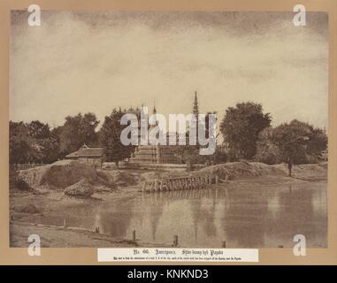 Amerapoora: Shwe-doung-dyk Pagoda. Artist: Linnaeus Tripe (British, Devonport (Plymouth Dock) 1822-1902 Devonport); - Stock Photo