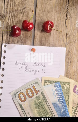 Enjoy little things concept photo - Stock Photo