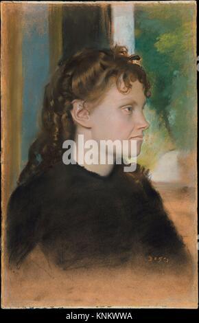 Madame Théodore Gobillard (Yves Morisot, 1838-1893). Artist: Edgar Degas (French, Paris 1834-1917 Paris); Date: - Stock Photo