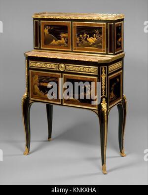 Desk (bonheur du jour). Maker: Claude-Charles Saunier (French, 1735-1807); Date: ca. 1765-75; Culture: French; Medium: - Stock Photo