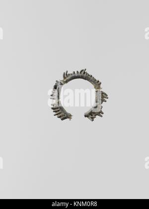 Wreaths, 11. Culture: Greek, Laconian; Medium: Lead; Dimensions: 4 fragments; Classification: Miscellaneous-Lead; - Stock Photo