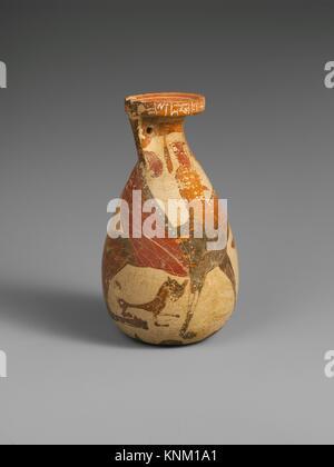 Terracotta Inscribed Alabastron Perfume Vase Archaic Ca 600