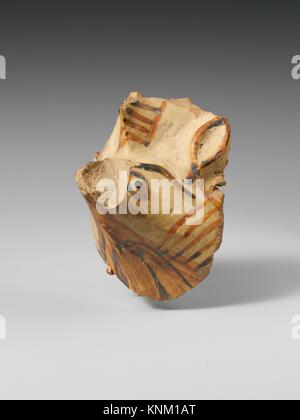 Terracotta vase fragment with griffin. Period: Geometric or Archaic; Date: 8th-6th century B.C; Culture: East Greek, - Stock Photo