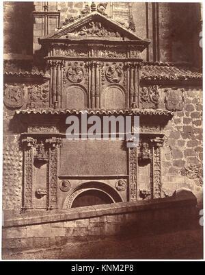 Portal of the Convent of Sancti Spiritu, Salamanca. Artist: Charles Clifford (Welsh, 1819-1863); Date: 1853; Medium: - Stock Photo