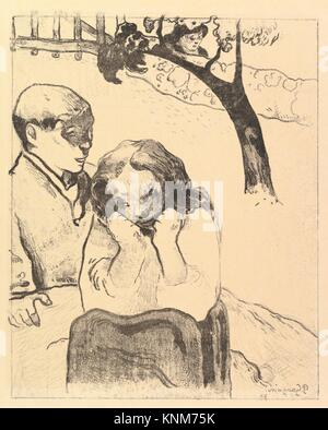 Human Misery, from the Volpini Suite: Dessins lithographiques. Artist: Paul Gauguin (French, Paris 1848-1903 Atuona, - Stock Photo