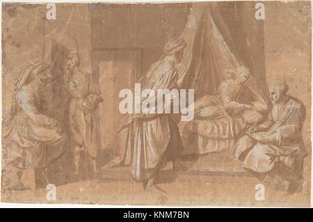 The Birth of Saint John the Baptist. Artist: After Andrea del Sarto (Andrea d´Agnolo) (Italian, Florence 1486-1530 - Stock Photo