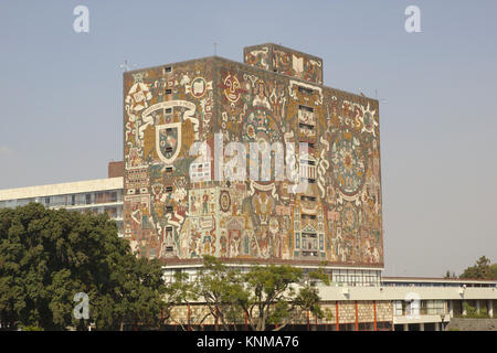 Central Library of the UNAM University, Mexico City - Stock Photo