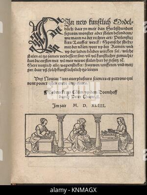 Ein new kunstlich Modelbuch. Publisher: Peter Quentel (German, active Cologne, 1518-46) , Cologne; Date: 1544; Medium: - Stock Photo