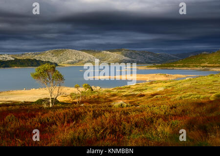 Storm Approaching Falls Creek, Victoria, Australia. Dramatic photo of a storm approaching Rocky Valley Reservoir - Stock Photo