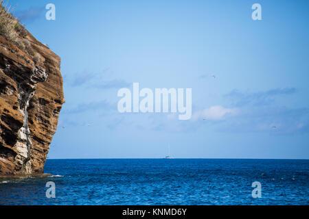 Fishermen on Fisherboat on the Atlantic - Stock Photo